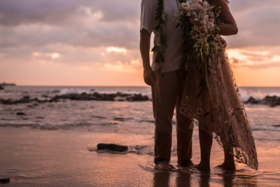 Bride & Groom in Hawaii, eloping with Simply Eloped and Epic Elopement